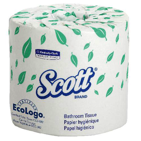 "4460 2PLY TOILET TISSUE WHITE SCOTT 4.1""X 4.0"" 80-550sht RLS"