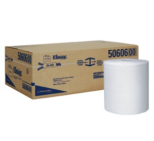 "50606 8"" BLEACHED ROLL TOWEL KLEENEX, 50% RECYCLED, 6/600'"